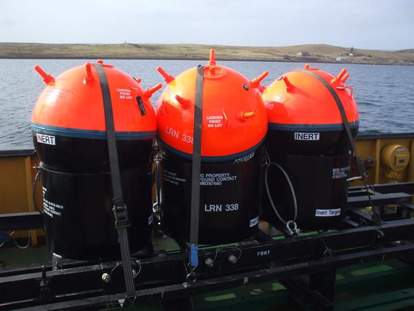 mines on boat